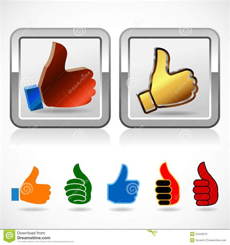 Thumb App Thumb Up Sign High Quality Symbol Stock Photo Image