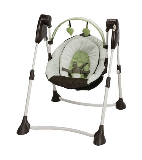 portable swing graco swing by me portable swing go green