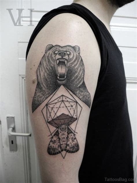 geometric bear tattoo 77 astonishing geometric shoulder tattoos