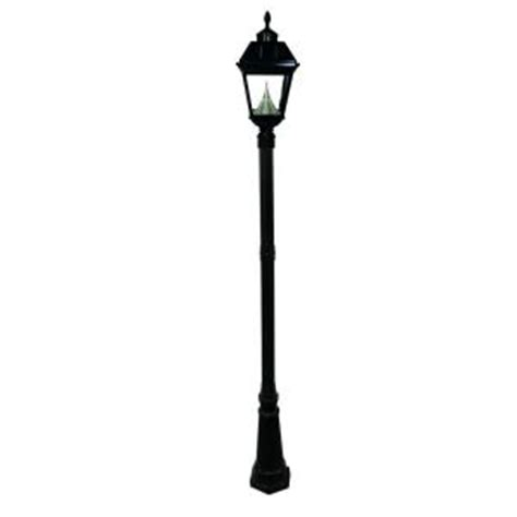 solar l post light home depot gama sonic imperial solar black outdoor l post gs 97s ge the home depot