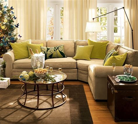 pottery barn family room marceladick com pottery barn comfy sectional with green pillows pops