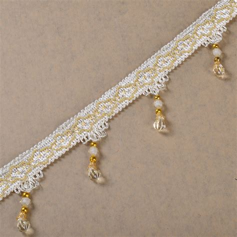 beaded drapery trim tassel beaded fringe curtain trims drapery ribbon decor