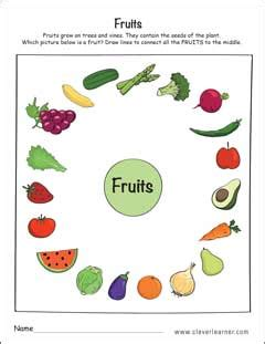 worksheets for preschoolers on fruits and vegetables science fruits and vegetables worksheets kindergarten