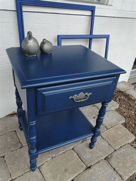 navy blue accent table 17 best ideas about refurbished night stand on pinterest