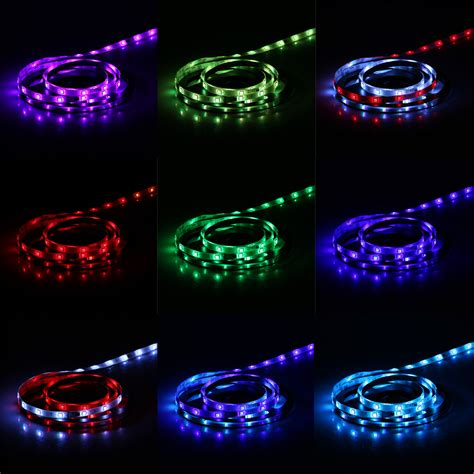 5m multi color changing led rope light flexible strip kit