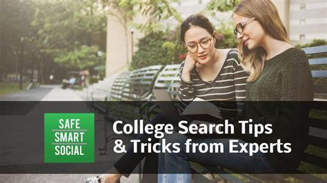 Smart Tips For Finding Experts by College Search Tips Tricks From 3 Experts