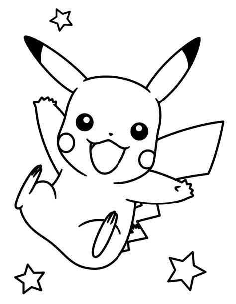 Printable Pikachu Coloring Pages Coloring Me Pictures To Coloring Pages