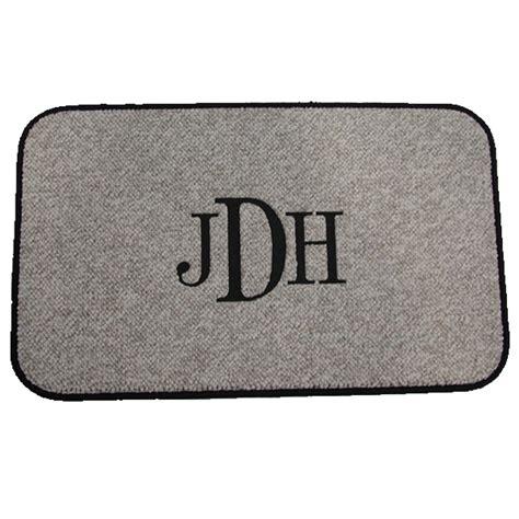 monogrammed mats design your own custom floor mat