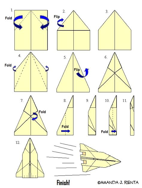How Do I Make A Paper Aeroplane - how to make an f22 paper plane by autobot17 on deviantart