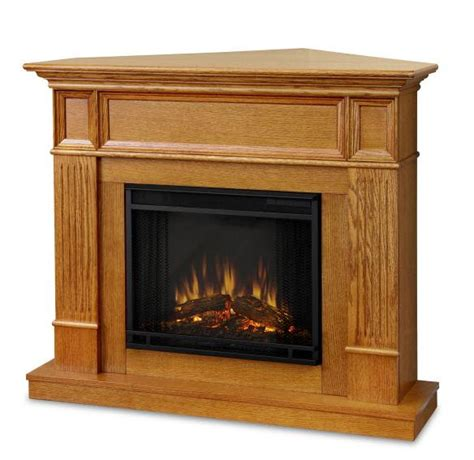 Oak Electric Fireplace by 45 Quot Cameron Oak Convertible Electric Fireplace