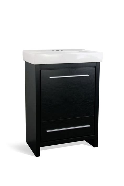 24 inch black bathroom vanity glacier bay romali 24 inch w vanity in black finish with
