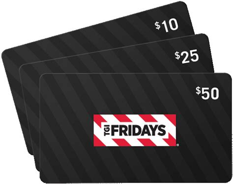 Tgi Fridays Gift Card - gift cards tgi fridays