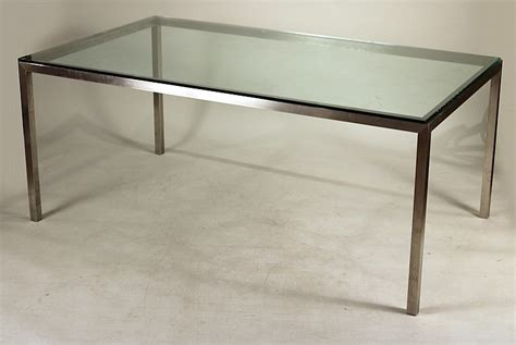 brushed nickel dining table modern glass and brushed nickel dining table