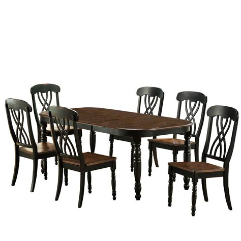 home depot dining room ls home decorators collection 7 piece black dining set