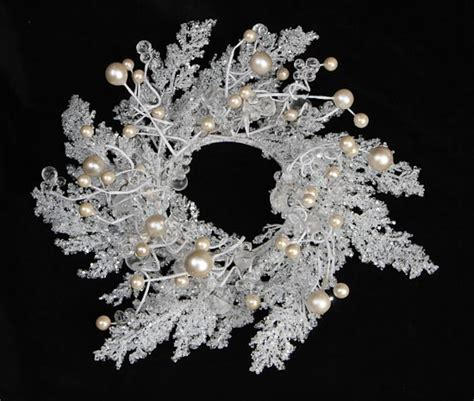 winter candle rings white iced branch and candle ring wreath candle holders and rings candles candle