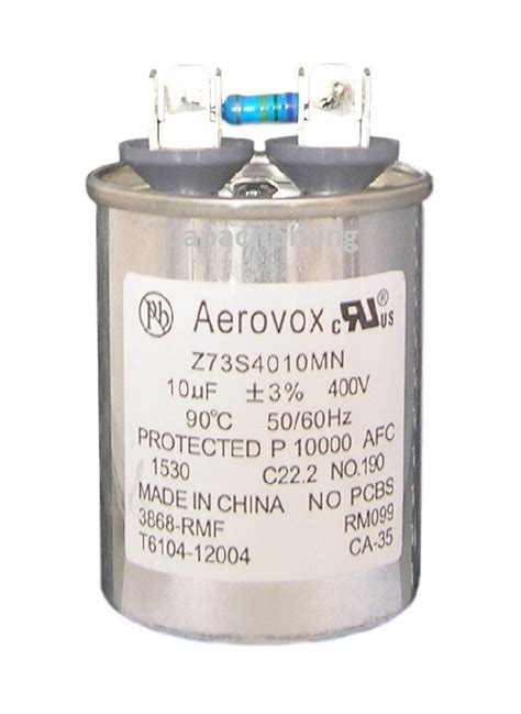 aerovox hid capacitors aerovox lighting capacitor 10uf 400 volt metal halide z73s4010mn 3868 rmf metal