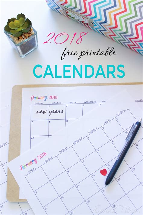 Calendrier 2018 To Print Custom Editable Free Printable 2018 Calendar Titus