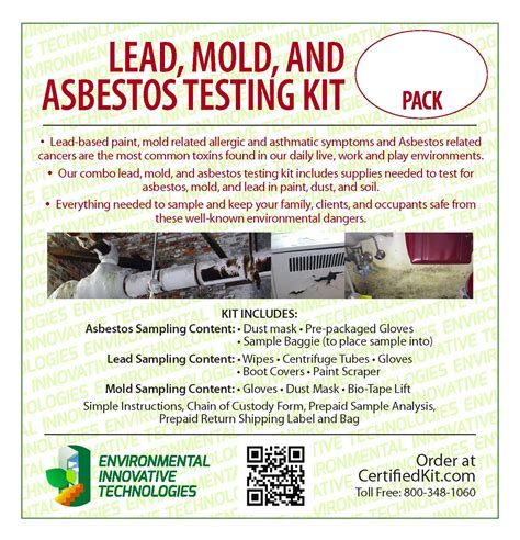 lead mold and asbestos testing kit
