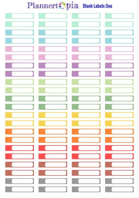 blank vinyl sticker sheet includes 88 blank labels 1 planner vinyl stickers large
