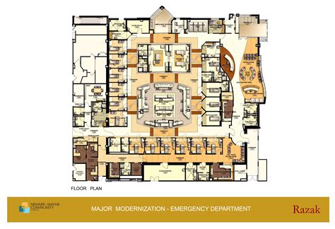 hospital emergency department floor plan modern efficient functional yet simple hospital building