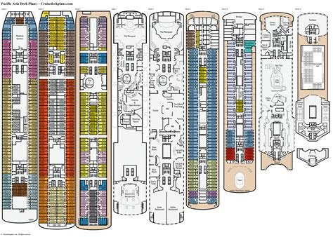 cruise ship floor plans pacific aria deck plans diagrams pictures video