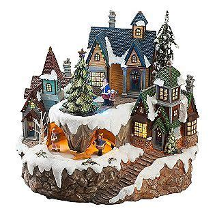 animated christmas village with train animated houses happy holidays