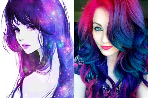 Hair color 2017: Galaxy hair