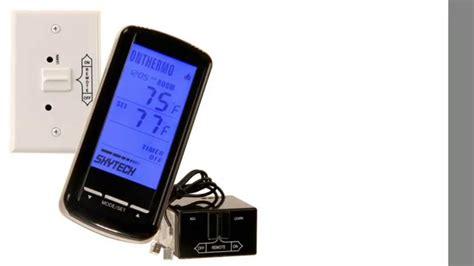 Skytech Fireplace by Skytech Sky 5301 Backlit Lcd Touch Screen Fireplace Remote With Timer Thermostat