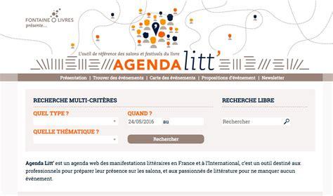 Resume Du Livre L Agenda by L Agenda Litt Outil De R 233 F 233 Rence Des Salons Et Festivals