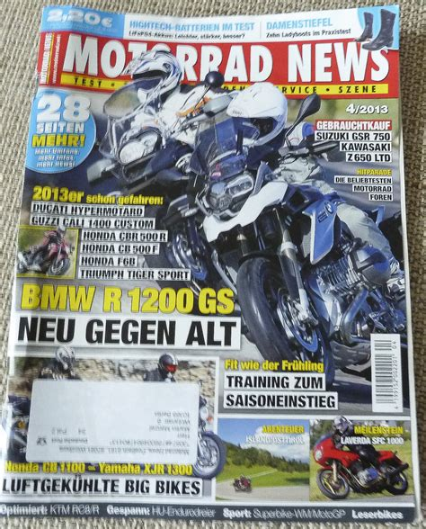 Motorrad Zeitschrift Preis by Test Zeitschrift Motorrad News Als Offline Informationsquelle