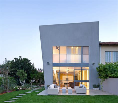 contemporary eco friendly house with asymmetric shape