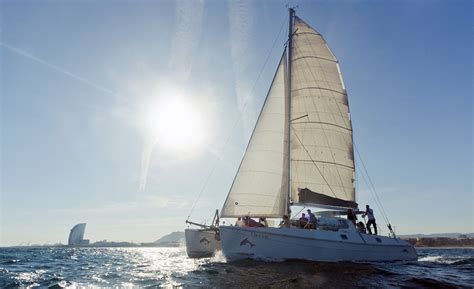 party boat rental barcelona sailing catamaran rental 25 passengers barcelona party boat