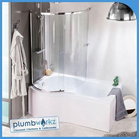 1500mm L Shaped Shower Bath p shaped bath 1500mm 1700mm bath full enclosure screen