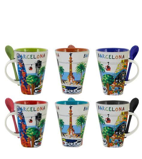 quot barcelona quot modern mugs trencadis i zings souvenirs madrid