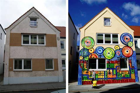 fassadengestaltung berlin graffiti auftrag hundertwasser haus flensburg kunst am