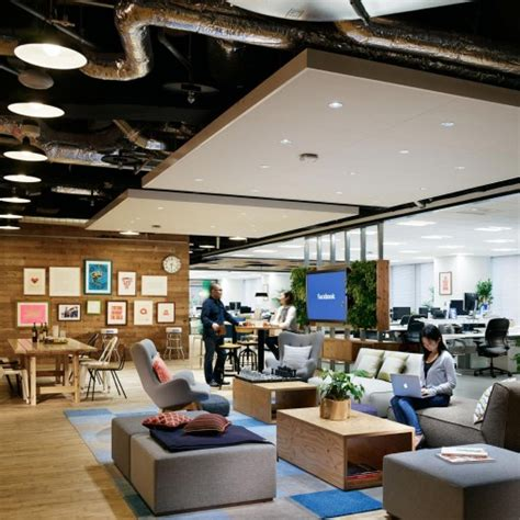 facebook office interior design facebook headquarters projects gensler