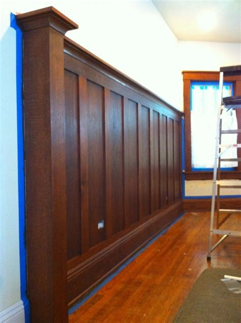 Walnut Wainscoting Panels Stained Solid Wood Wainscoting Craftsman Bungalow