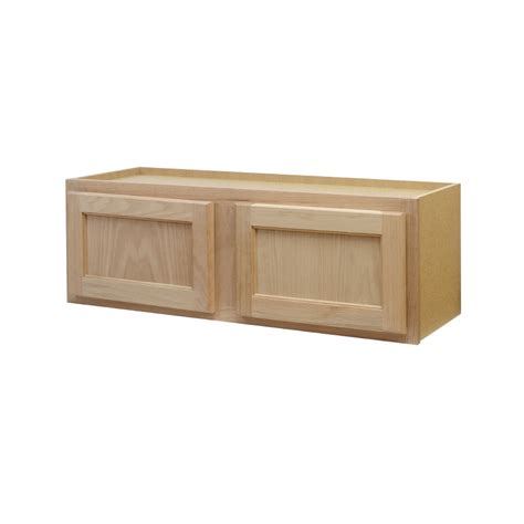 Kitchen Cabinet Unfinished Shop Continental Cabinets Inc 36 In W X 12 In H X 12 In D Unfinished Oak Door Kitchen