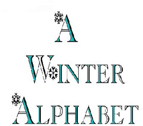 printable winter alphabet letters a to z kids stuff winter alphabet printable pages