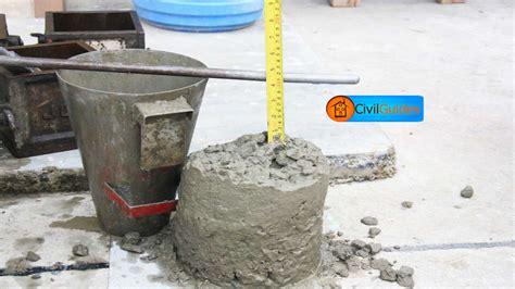 Slump Test concrete slump test definition types procedure