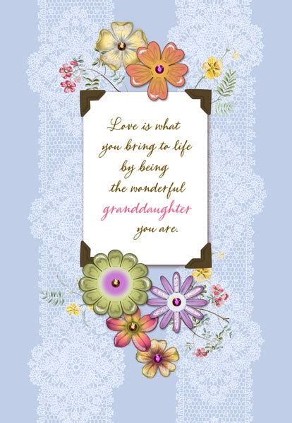 cards grandchildren wonderful granddaughter birthday card greeting cards