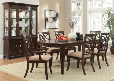homelegance keegan 8 dining room set w buffet in