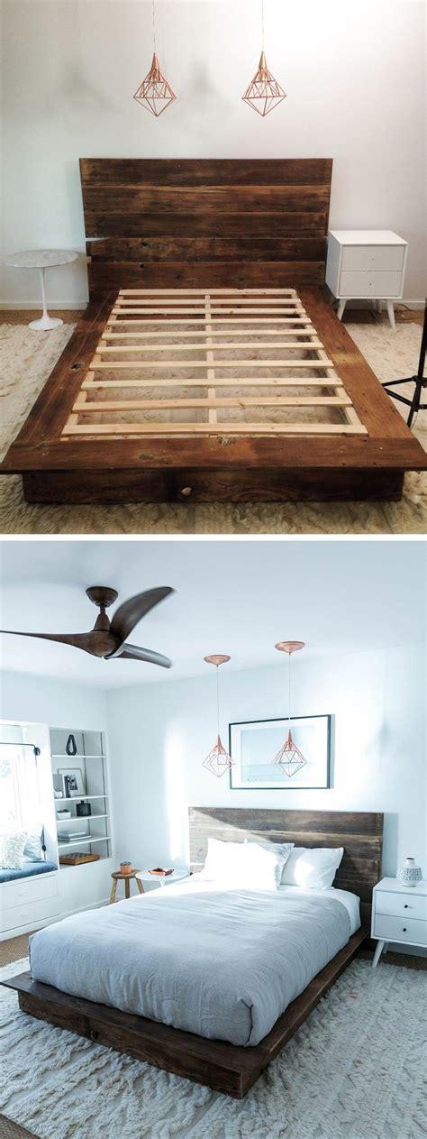 diy reclaimed wood platform bed wood platform bed