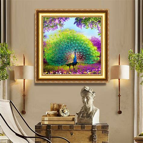 mosaic home decor diy diamond painting cross stitch kit multi style peacock