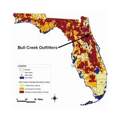 florida turkey population distribution map bull creek