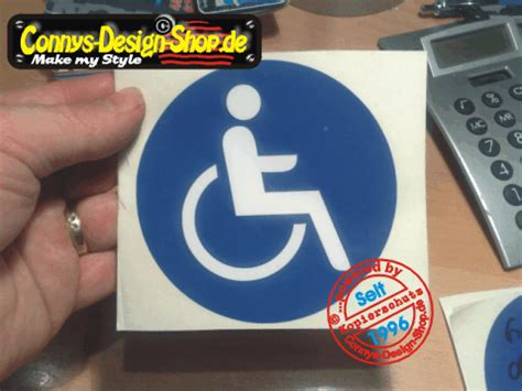 Aufkleber Scheibe Innen Entfernen by 1 Rollstuhlfahrer Behindert Aufkleber 10cm Rund Au 223 En Ebay