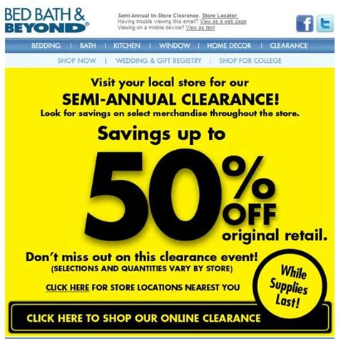 bed bath and beyond clearance printable coupons bed bath and coupon on pinterest