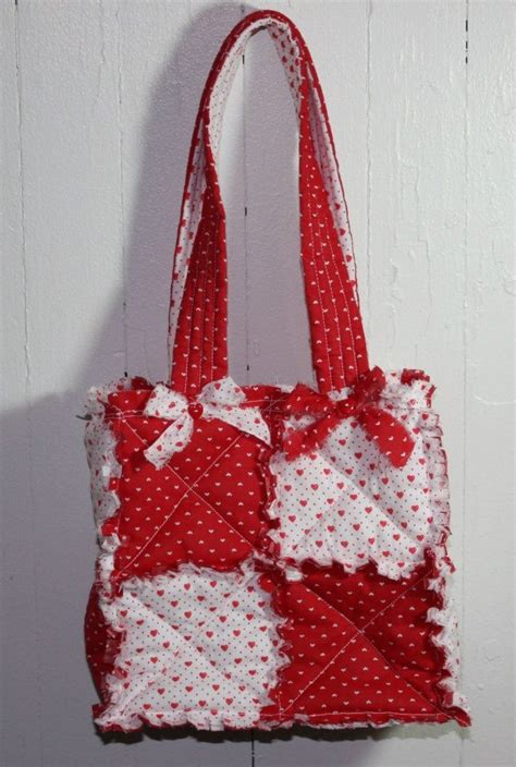 rag tote bag pattern cool valentine purse from cindy s handmade rag quilt