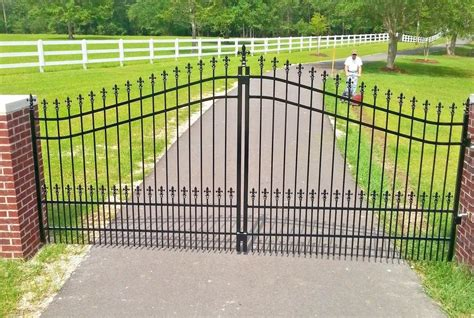 swing driveway gates custom built driveway entry gate 12ft wide single swing