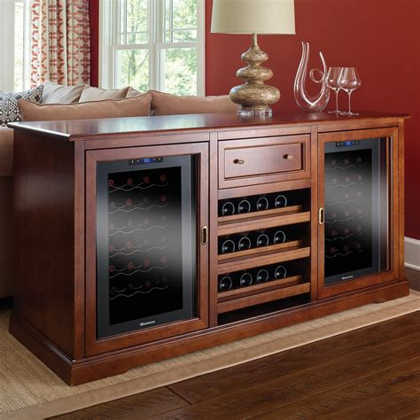 bar cabinet with wine fridge furniture style wine coolers gallery of diy wine credenza